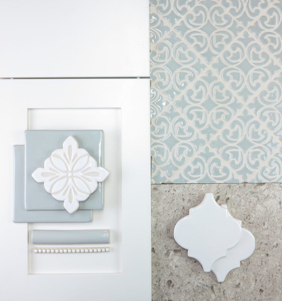 Decorative Tile Trim Interior Design Inspiration  White Shaker Cabinets Tile Trim And
