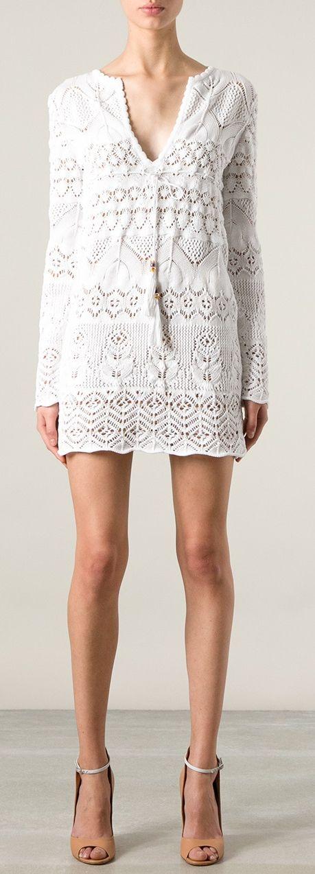 Emilio Pucci - White Knitted Mini Dress | Knit | Pinterest ...