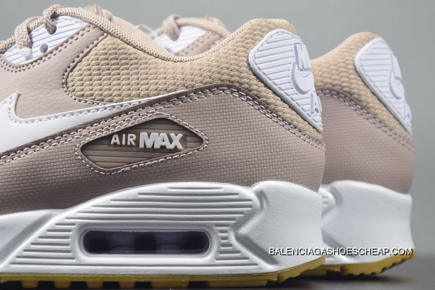 f43baadccaa3e Nike Air Max 90 Essential Diffused Taupe White-Gum 325213-210 Roze Retro Womens  Air Cushion Running Shoes Best