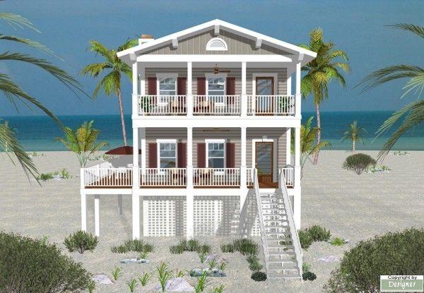 Featured House Plan Bhg 1764 Beachfront House Beach House Floor Plans House Plans