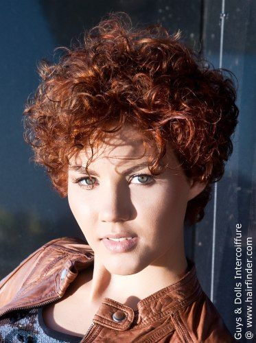 sporty short haircut with curls