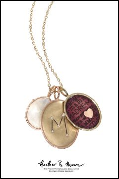 Heather Moore custom necklace available at Schmitt Jewelers. 2014 #pantone color of the year. #radiant #orchid #monogram