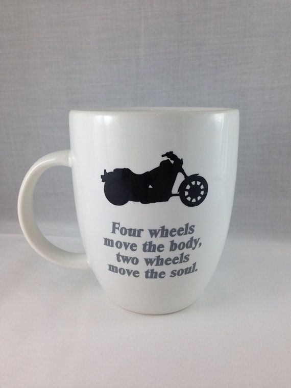 Coffee Mug Motorcycle Gift On Etsy 12 00 Motorcycle Gifts Diy Wine Glasses Creative Diy Gifts