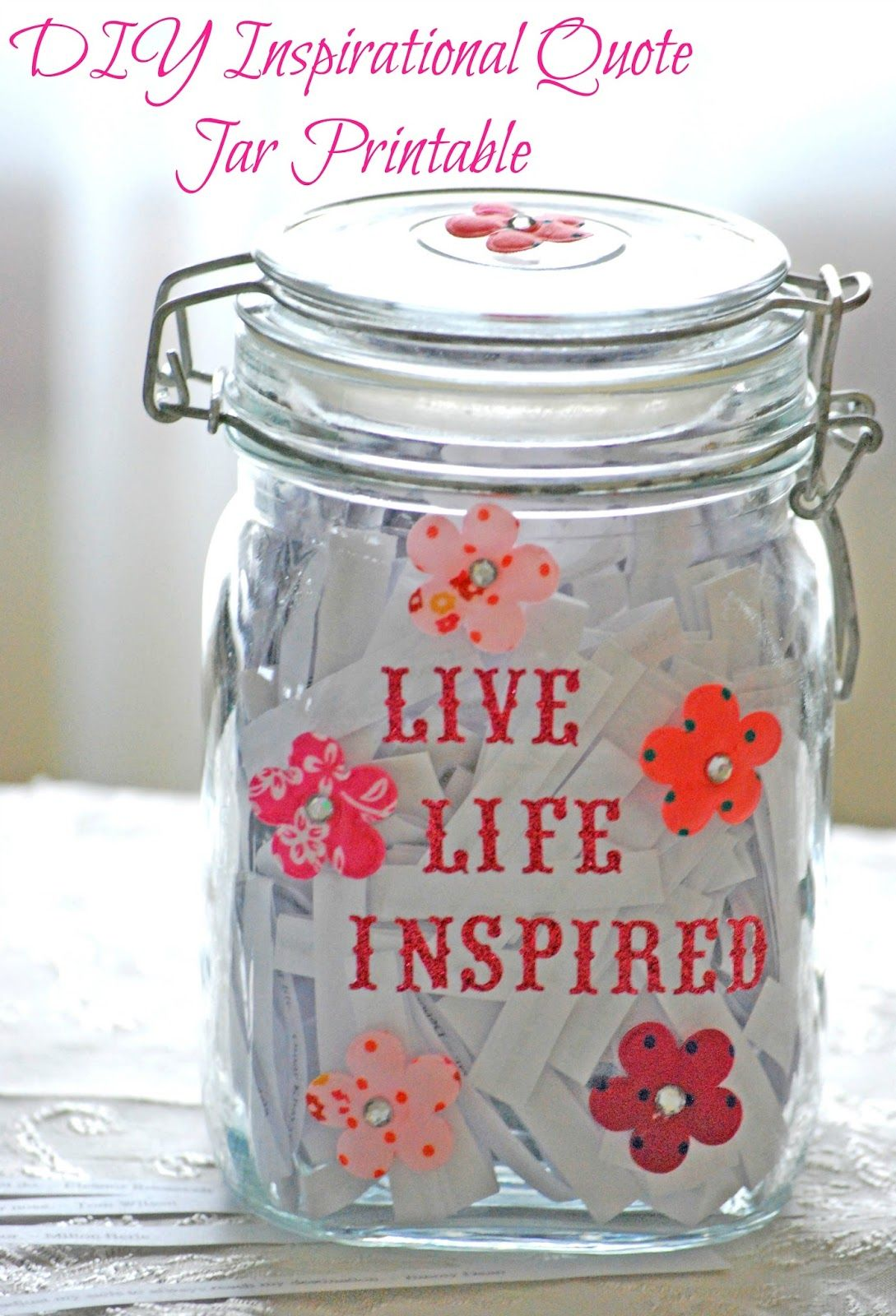 Quotes Jar Glamorous Free Inspirational Quote Jar Printables  Jar Gift And Craft