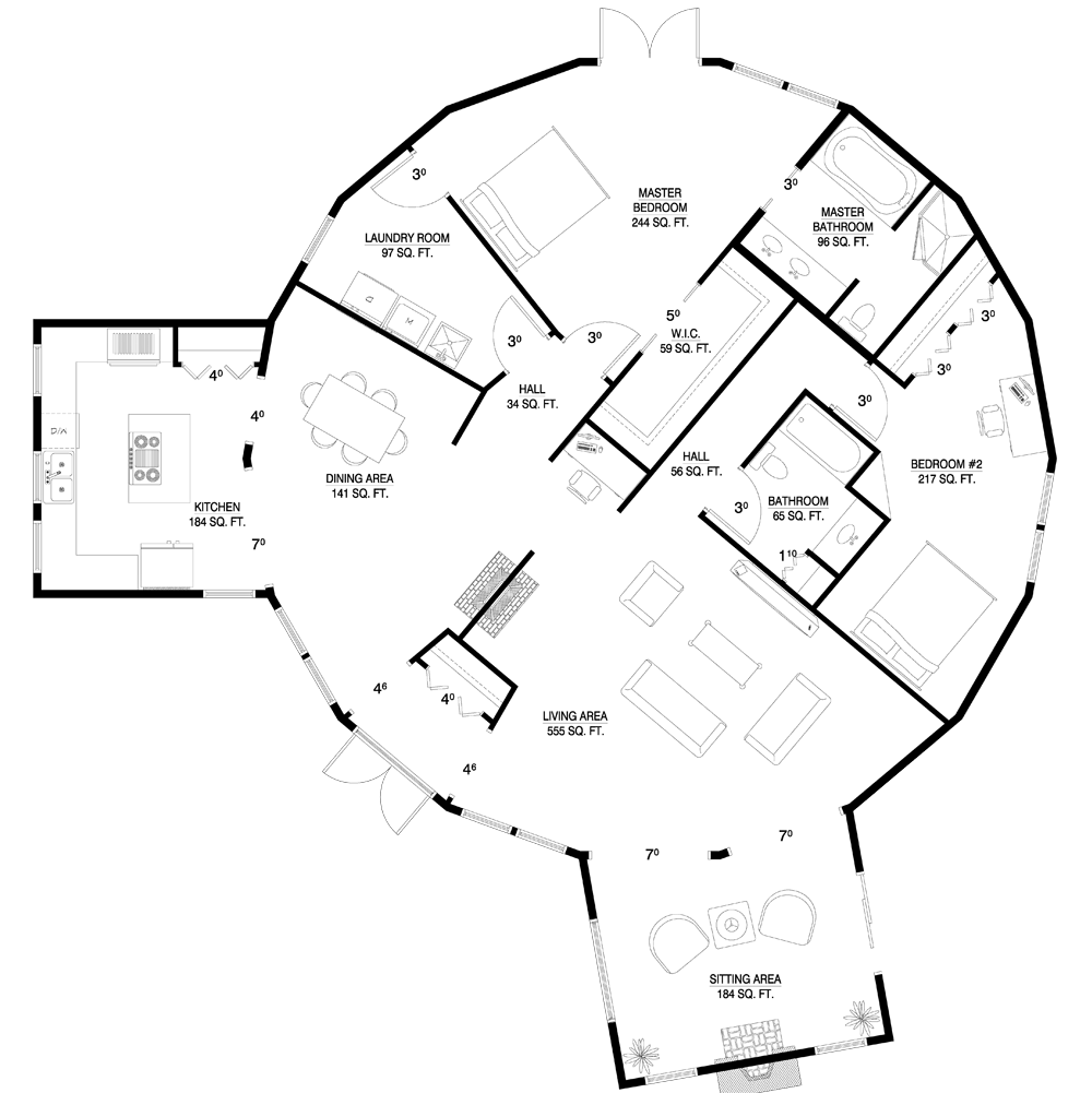 Geodesic Dome Home Plans: Deltec Homes- Floorplan Gallery