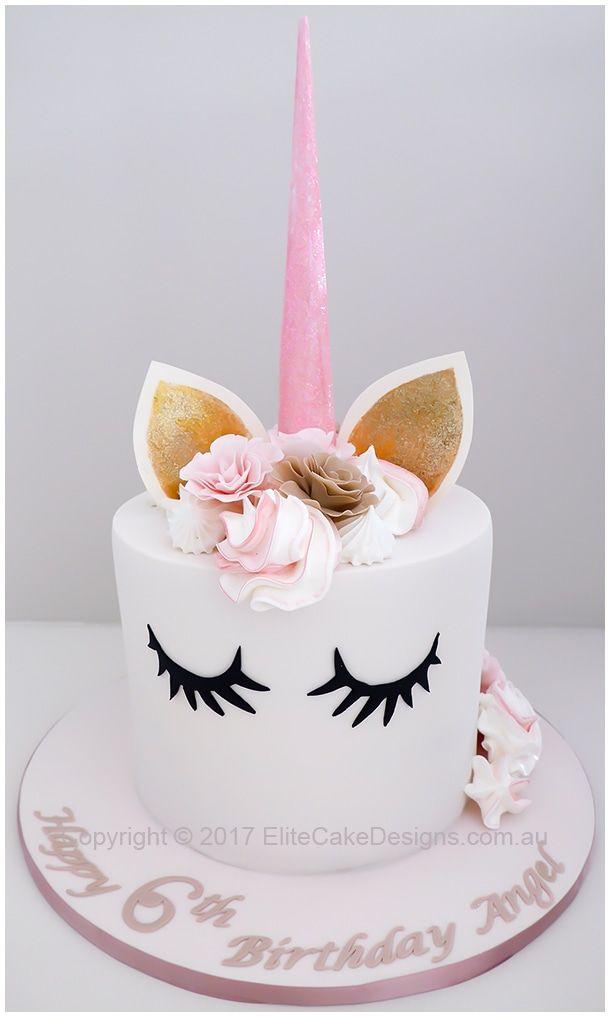 Elegant Unicorn Girls Birthday Cake Design Birthday Cake