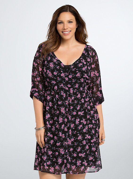 67689cebd77 Floral Print Chiffon Shirt Dress | My Style | Chiffon shirt dress ...