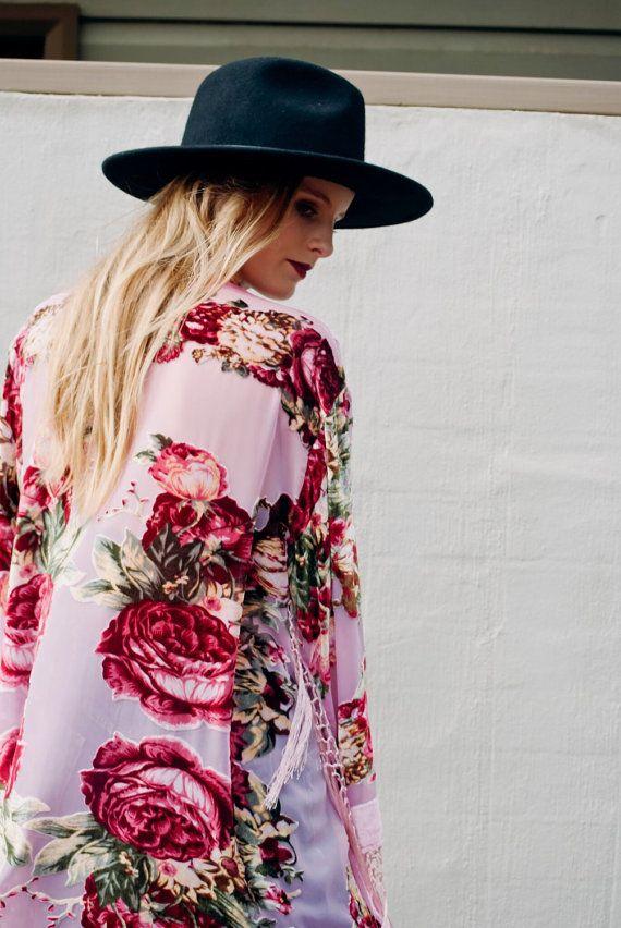 Pixie Burnout Velvet Fringe Festival Kimono by SunshineDreamerr
