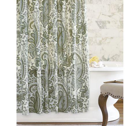 Charlie Paisley Organic Shower Curtain Pretty Shower Curtains Ruffle Shower Curtains Paisley Shower Curtain
