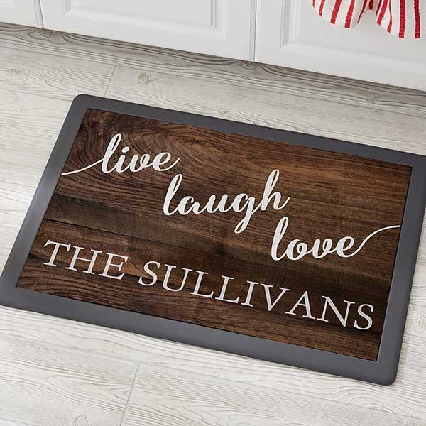 Live Laugh Love 18x27 Personalized Kitchen Mat Kitchen Mat