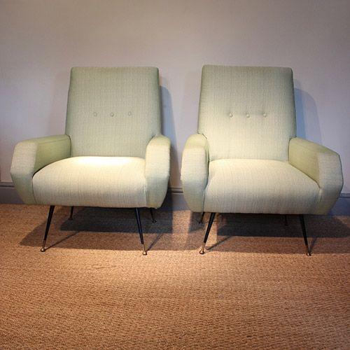 Pair Of 1950s Italian Armchairs Armchair Italian Armchairs