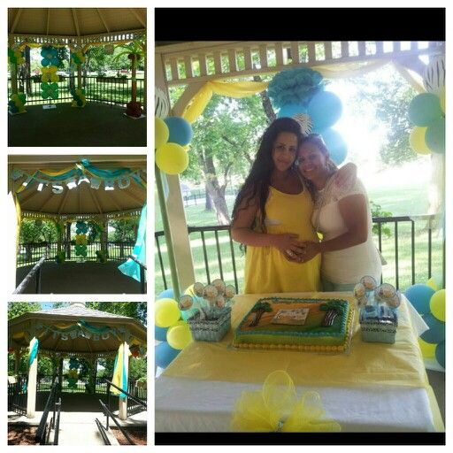 lion king baby shower in the gazebo at the park lion king baby