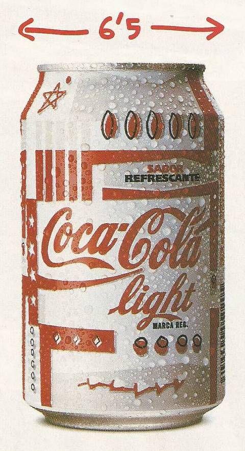 Lata Coca-cola light, dic 1996