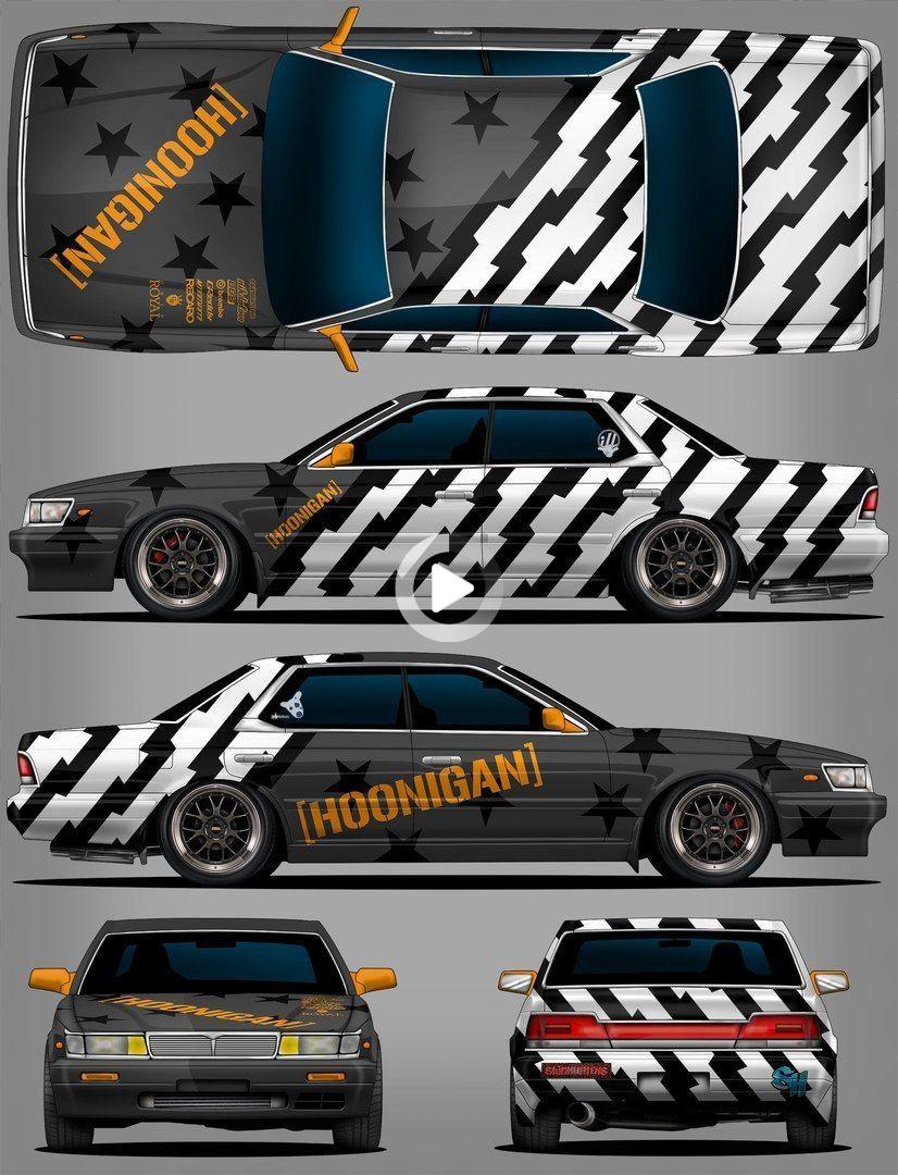 Laurel 33 Hooligan In 2021 Car Sticker Design Futuristic Cars Racing Car Design [ 1080 x 826 Pixel ]