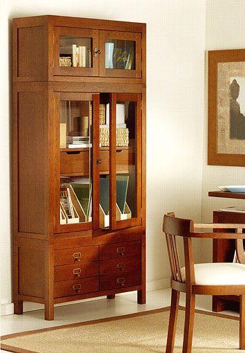 Pin de clarisa camarasa en casa pinterest roble rojo vitrinas y casta o - Samarkanda muebles ...