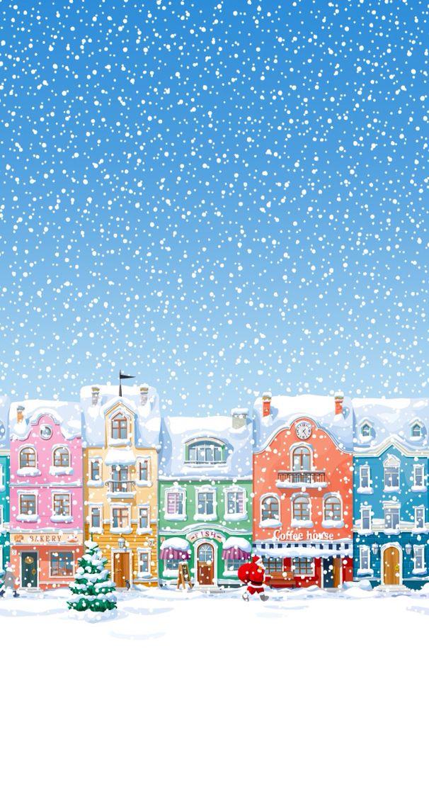 Sfondi Natalizi Iohone 6.Natale Backgrounds Sfondo Natalizio Periodo Di Natale E Auguri