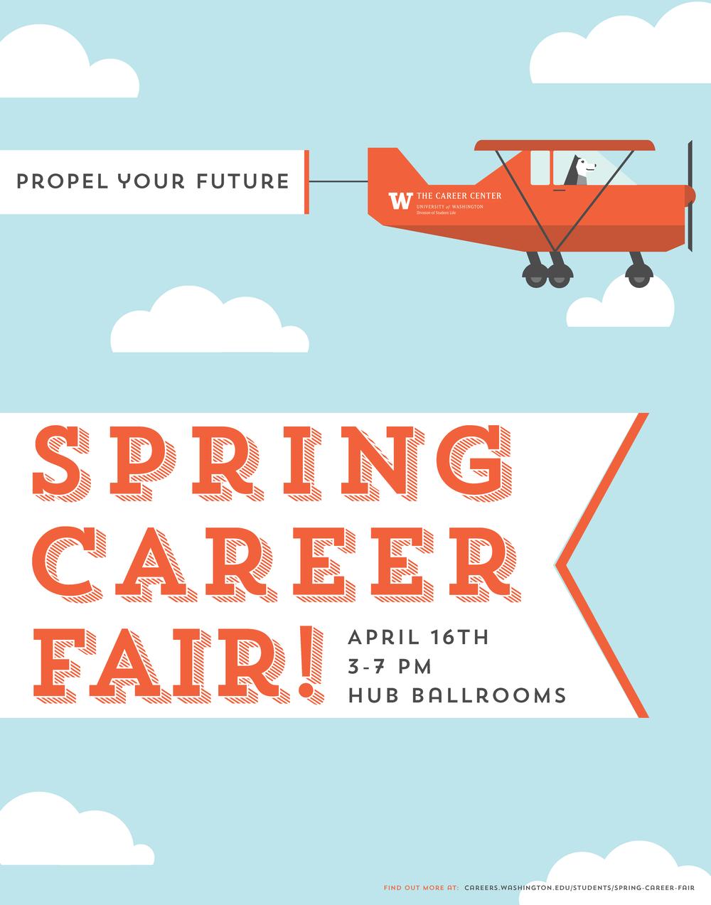 Spring Career Fair Poster Job fair, Career counseling