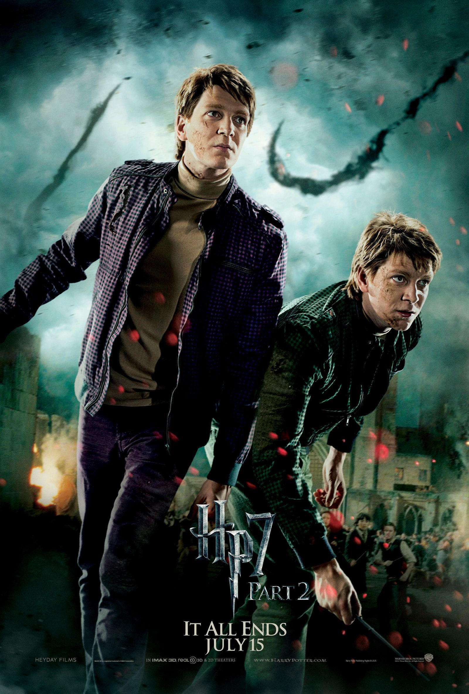Harry Potter And The Deathly Hallows Part 2 Http Www Imdb Com Title Tt1201607 Harry Potter Poster Fred And George Weasley George Weasley