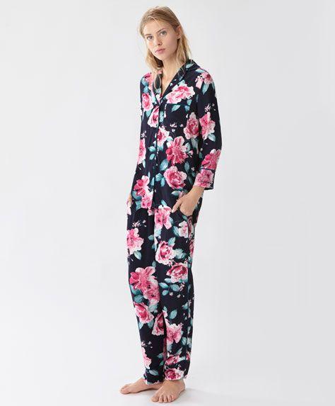 b293be3ad18 ... rosas - Pijamas - Primavera Verano 2017 moda de mujer en Oysho online   ropa interior