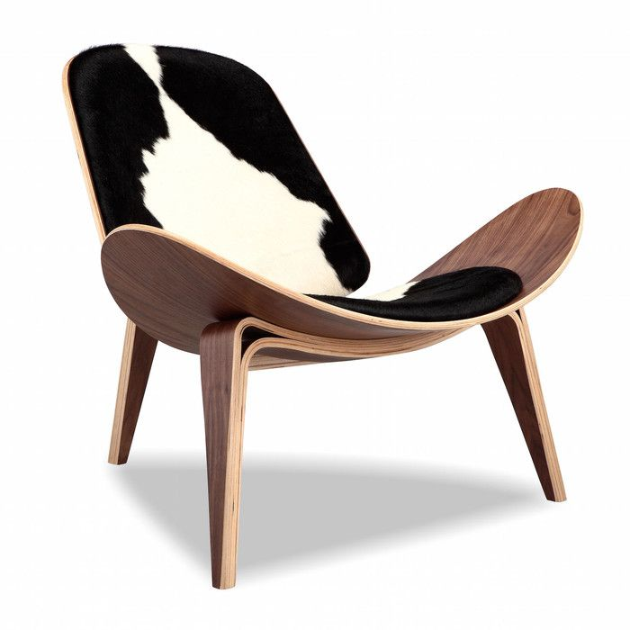 Attractive Kardiel Tripod Modern Lounge Chair   Tailored For Modern Ranch Living, The  Kardiel Tripod Modern Lounge Chair Features Hand Selected Authentic Cow Hide  Fur. Photo Gallery