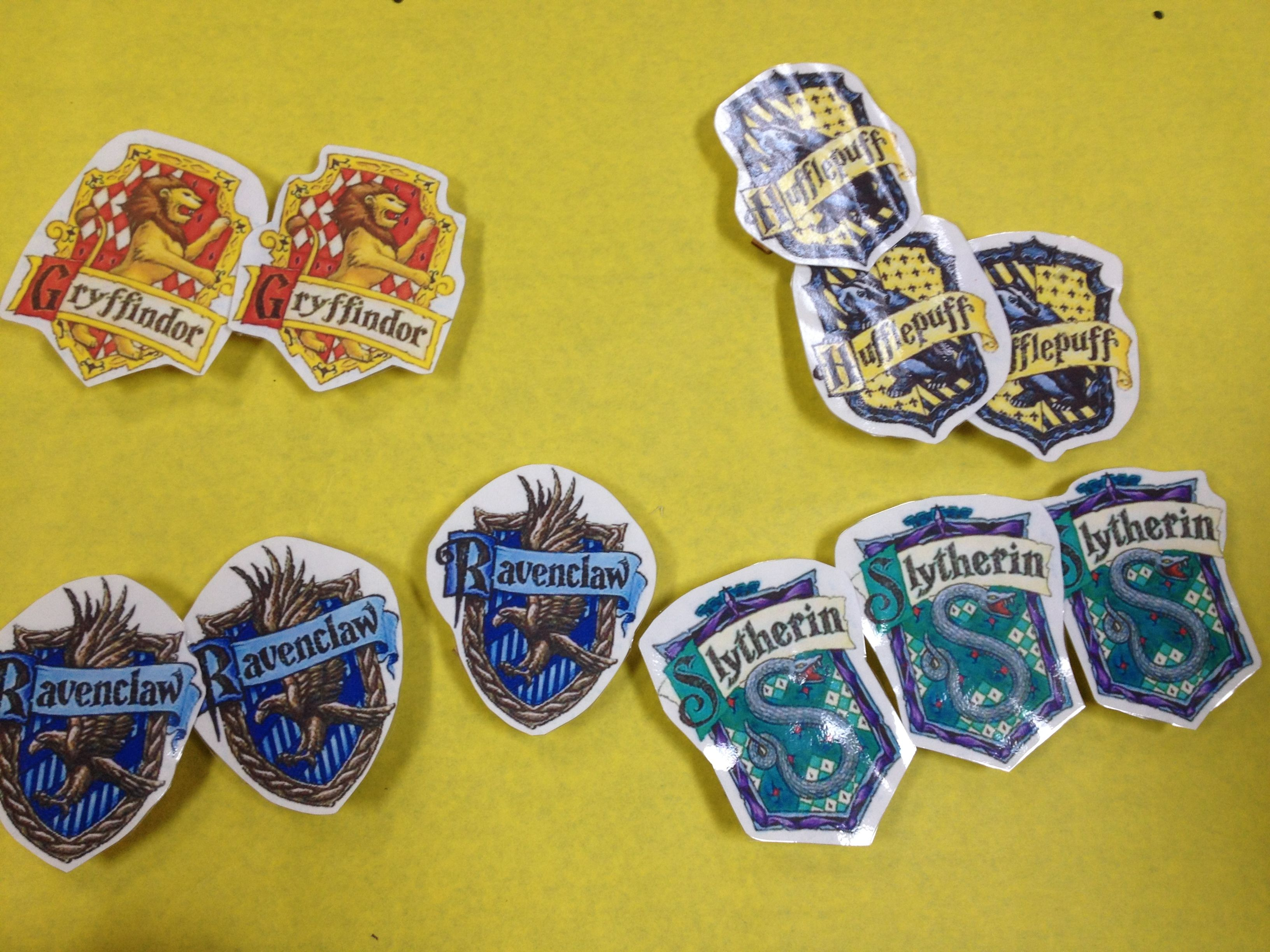 picture regarding Printable Hogwarts House Crests named Hogwarts property badges - printable crests very hot glued in the direction of