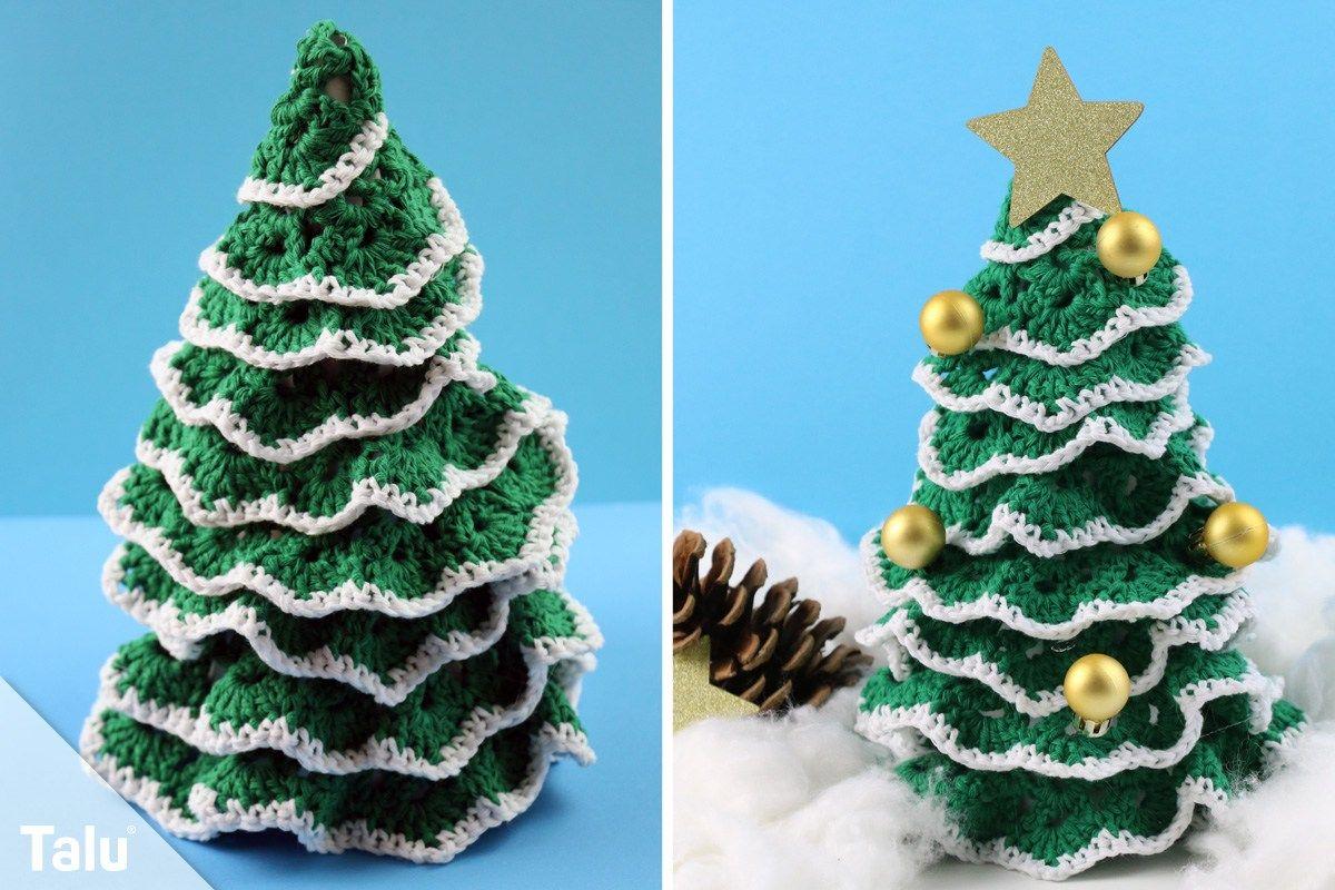 Tannenbaum Häkeln Anleitung Für Einen Gehäkelten Weihnachtsbaum