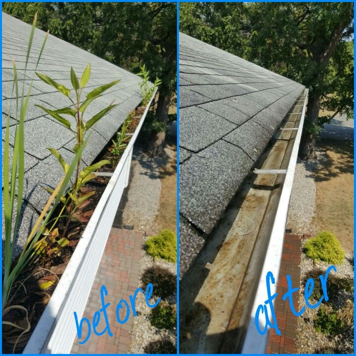 Before And After Picture Gutter Cleaning In Clifton Nj 07013 Gutter Guttercleaning Gutterinstallatio Gutter Repair How To Install Gutters Cleaning Gutters