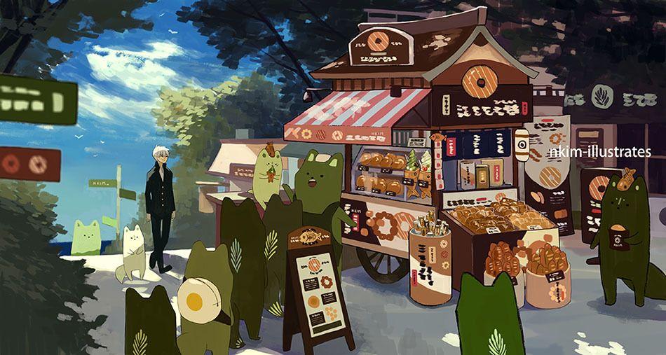 Matcha Fox Sale V2 Nadia Kims Art Illustrations In