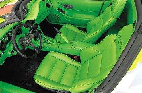 1995 honda del sol lime green and black interior neon auto addiction interiors pinterest. Black Bedroom Furniture Sets. Home Design Ideas