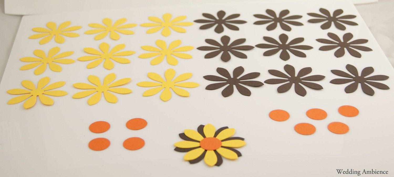 DIY Wedding Decoration  Cardstock Daisy  Favor Box Embellishment
