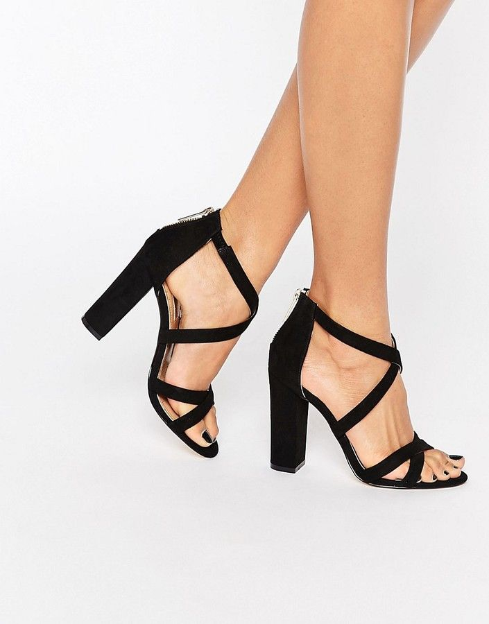 74061dc597c Miss KG Sian Strappy Block Heeled Sandals | Shoes in 2019 | Strappy ...