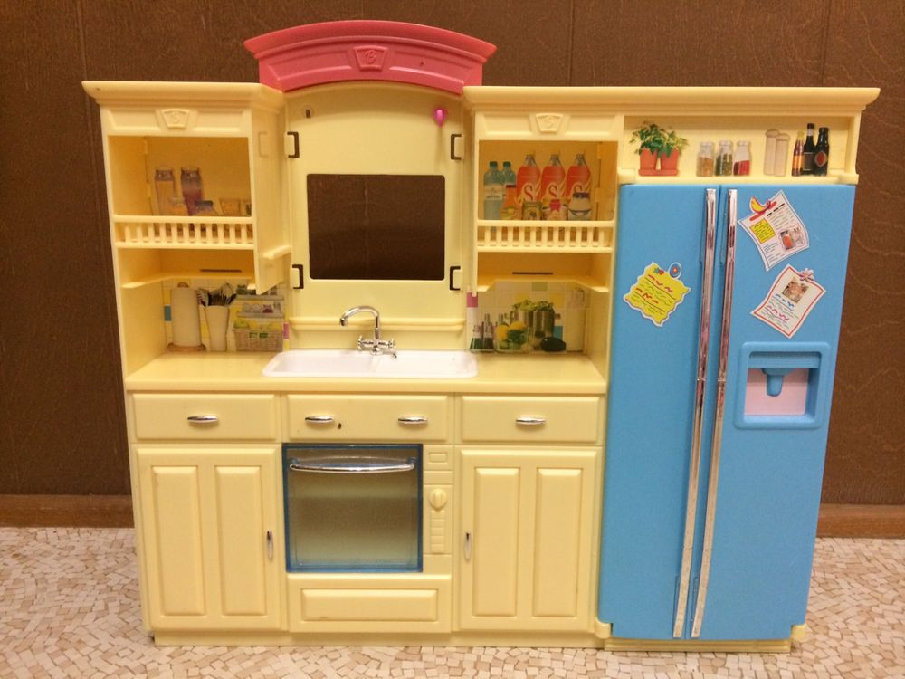 Barbie doll living in style decor collection kitchen for Doll kitchen set