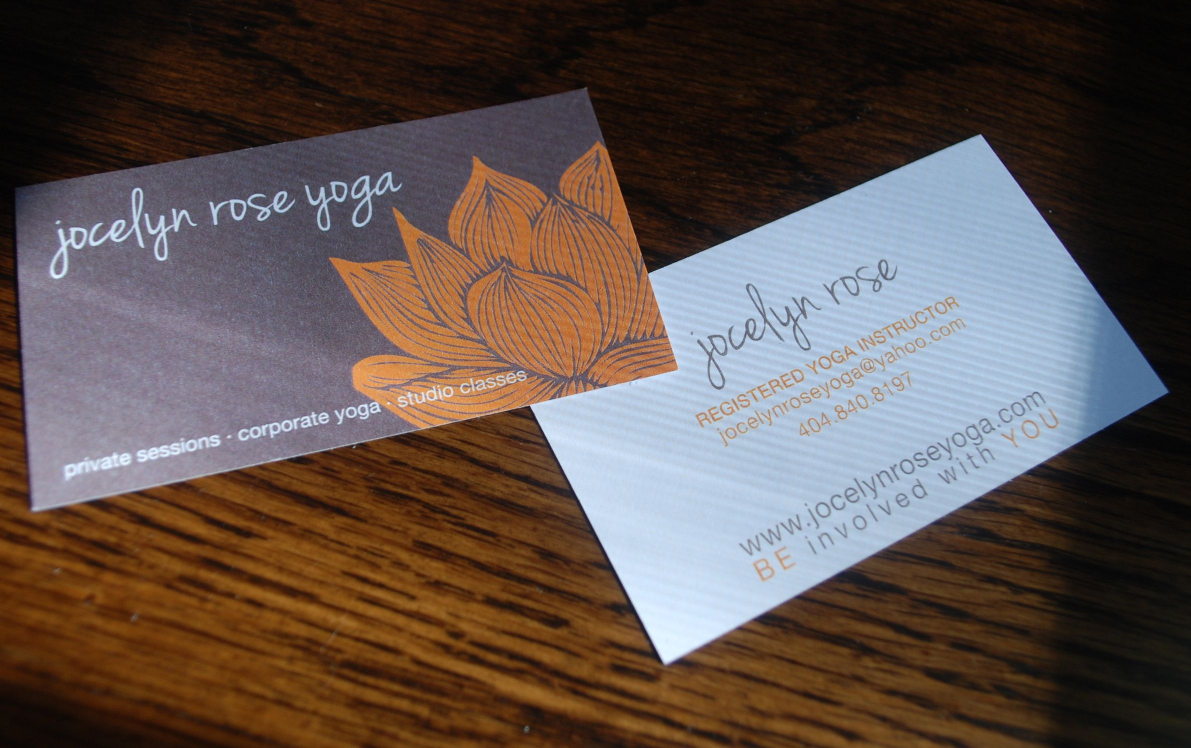 Business Card Yoga Gallery - Card Design And Card Template