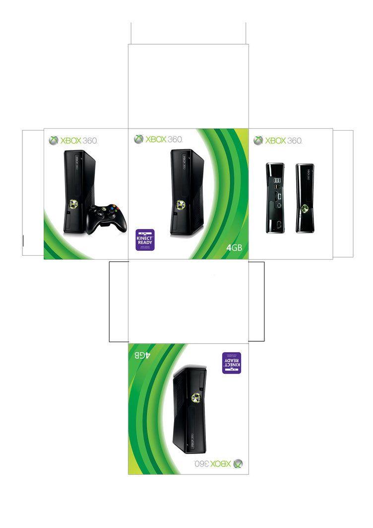 Xbox 360 Slim Box By Facundoneglia Con Imagenes Imprimibles