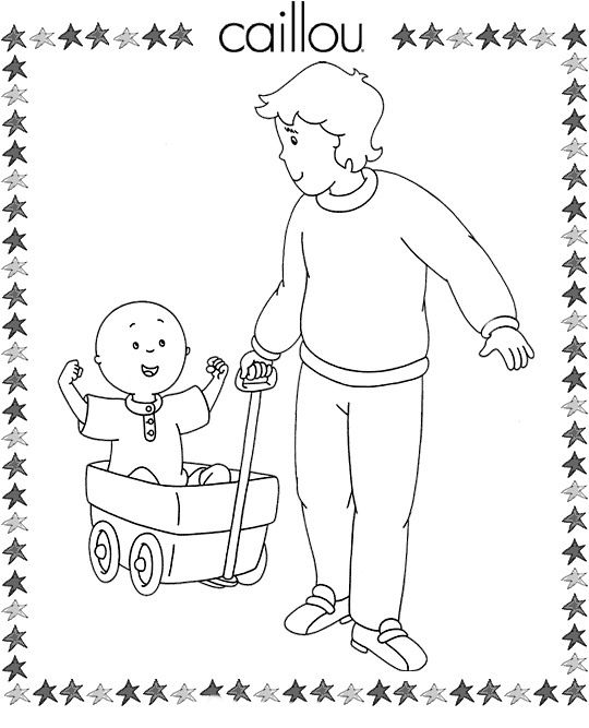 Dibujos Para Colorear Caillou 2 Caillou Coloring Pages Coloring Pages For Kids