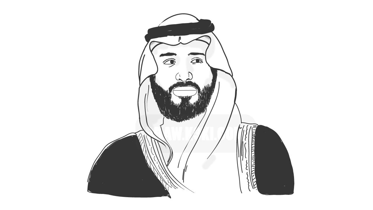 رسم محمد بن سلمان ولي عهد السعودية Optical Illusion Tattoo Painting Wallpaper Male Sketch