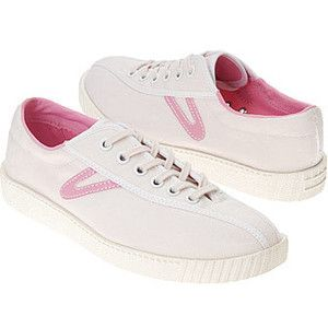 Tretorn White/Sea Pink Women's Nylite Canvas Shoe - Polyvore
