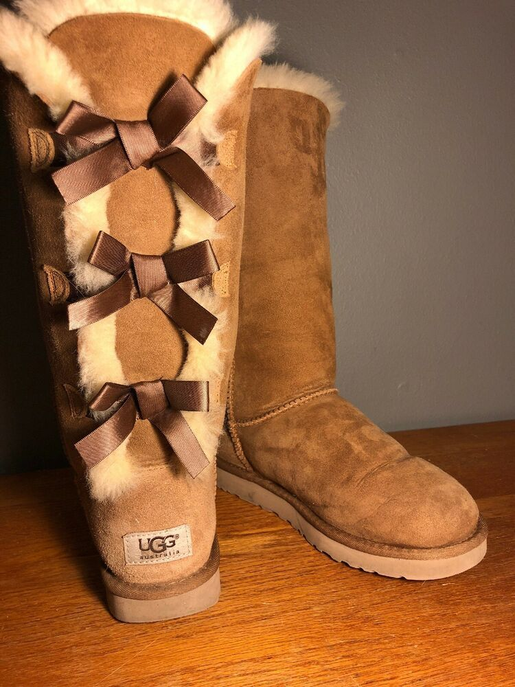 11a057bd5f6 Ugg Australia Tan BAILEY BOW TALL II BOOT Style Size 7 MSRP $250 ...