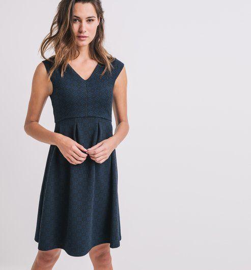 Mode Imprimé Robe Foncé Bleu Pinterest Chic Femme Promod wqSaSxYgE