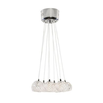 9 light cluster chrome and clear at homebase be inspired and make