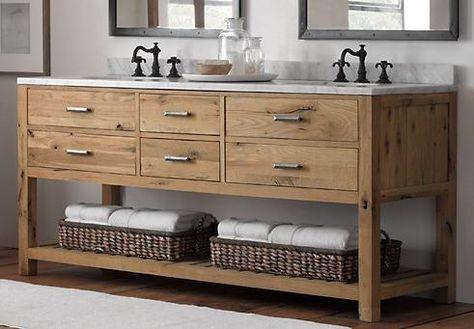 Verwittertes Holz Badezimmer Eitelkeit Interessante Reizvolle - badezimmermöbel aus holz
