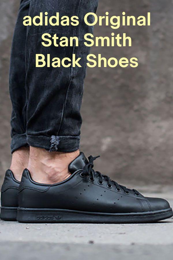 Adidas Originals Stan Smith cuero negro hombre  zapatos m20327 tamaño 8