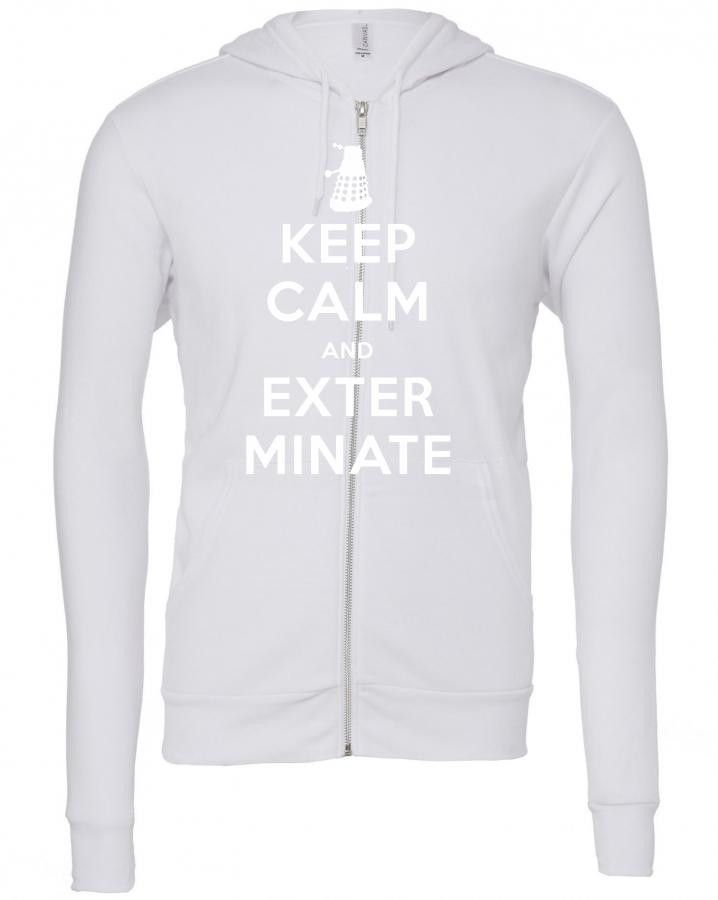 keep calm and exterminate 1 Zipper Hoodie