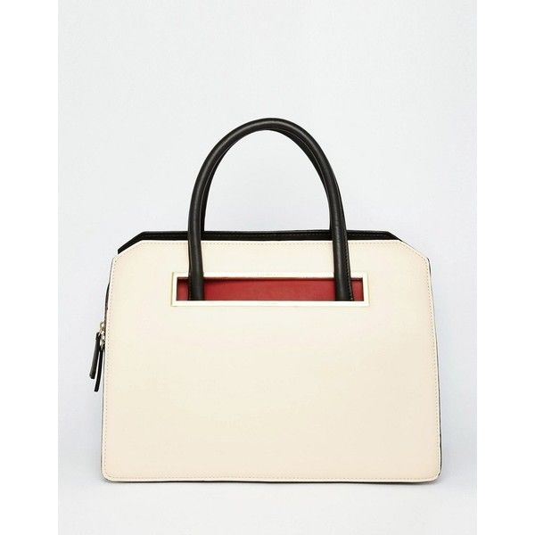 Fiorelli Structured Large Grab Bag 290 Sar Liked On Polyvore Featuring Bags Handbagscream Pursespurseswhite