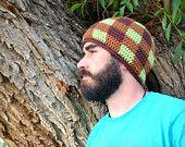 Strata Beanie Adults Custom Crochet Hat by PlayinHookyDesigns