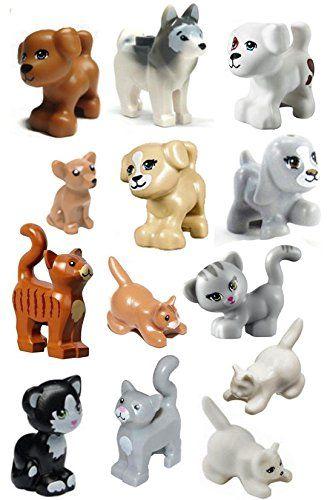 LEGO Animals Dog Pig Cat Minifigures Lot Friends