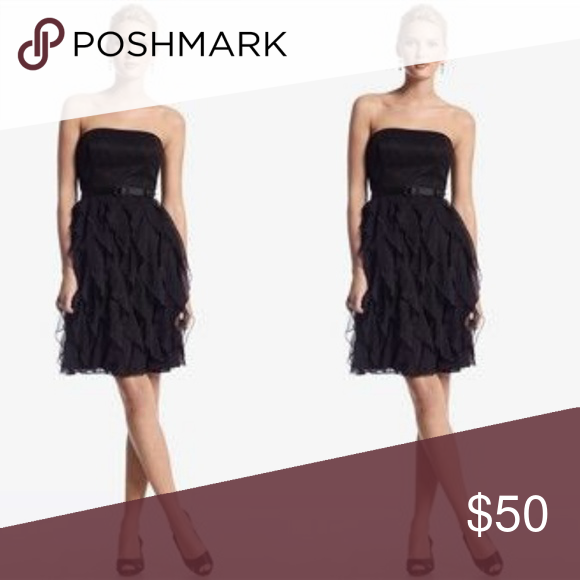7df5addf98 Strapless asymmetrical ruffles cocktail dress Very classy. Worn once to a  holiday party. Excellent