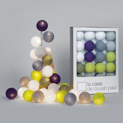 guirlande lumineuse 20 boules wanaka la case de cousin. Black Bedroom Furniture Sets. Home Design Ideas