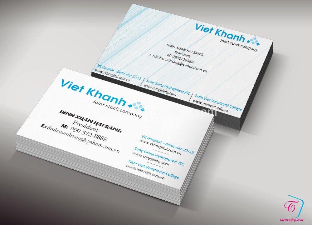 Thiết kế Name Card Việt Khanh Company nhanh u2013 giá rẻ Card visit - name card