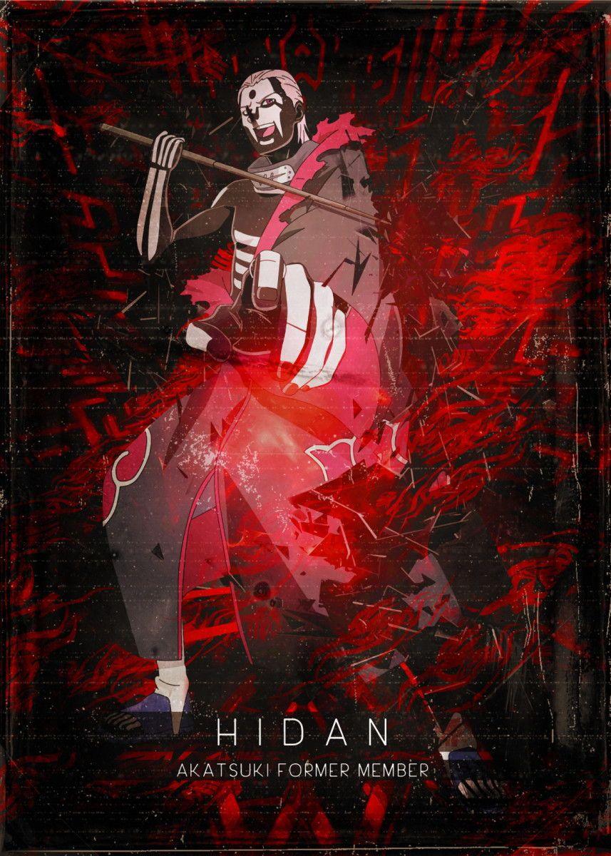 Akatsuki Hidan Anime & Manga Poster Print metal posters